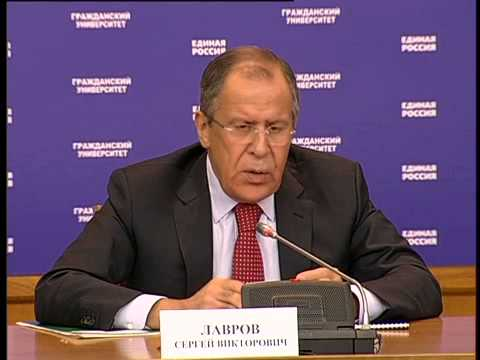 Sergey Lavrov's open lecture on Russian foreign policy