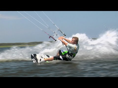 "Find more kiteboarding action here http://win.gs/1aXUVRM In the first episode of ""On the Loose,"" we're introduced to professional kitesurfers Aaron Hadlow an..."