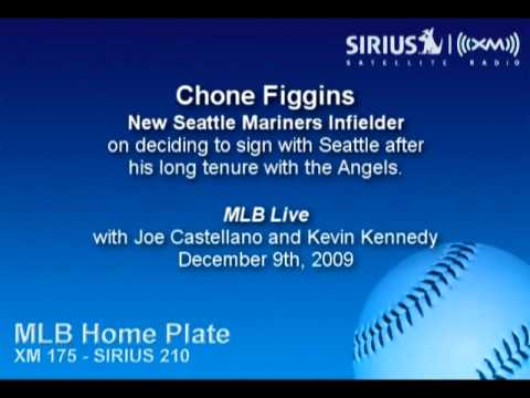 Chone Figgins, SEA IF, on signing with Seattle after a long tenure with LAA - Sirius|XM Video