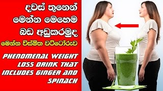 Phenomenal Weight Loss Drink made out of Ginger and Spinach