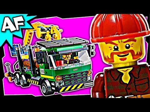 Lego City LOGGING TRUCK 60059 Stop Motion Build Review