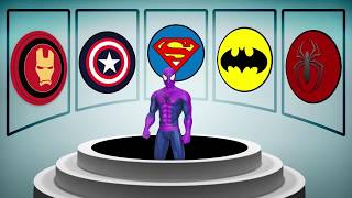 FUN LEARN COLORS Superhero Cartoon for Kids w Colors for Toddlers Nursery Rhymes