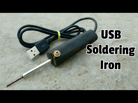 How to Make a USB Soldering iron at home
