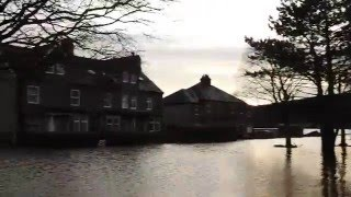 Big flood in Corbridge UK part 1