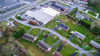 Lynchburg Tornado Aerial Footage – Timberlake Rd. – April 16, 2018