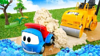 Léo o caminhão de brinquedo. Léo e Max consertam a estrada.