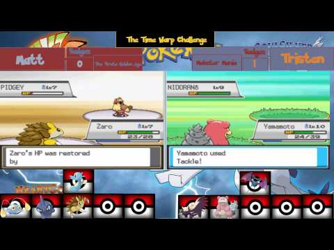 Pokemon Heart gold and soul silver spilt-sceen:The Time Warp challenge:Episode 6