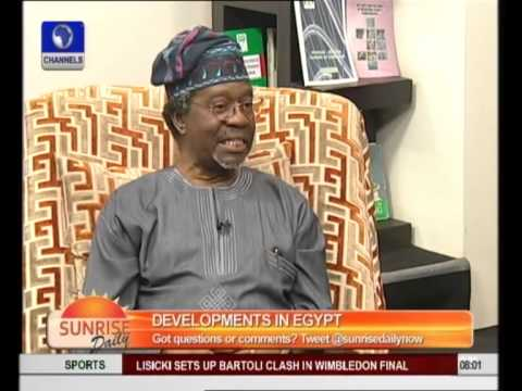 Military Intervention Saved Egypt From Collapse - Prof Oyebode Pt.1