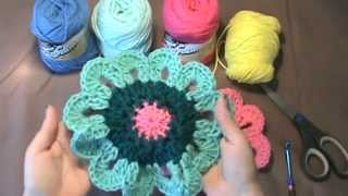 "How to Crochet the ""Flower Power Valance""..Video 1 of 2"