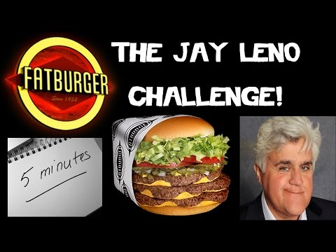 The Jay Leno Challenge - Xxxl Fatburger In 5 Minutes? | Freakeating In Victorville video