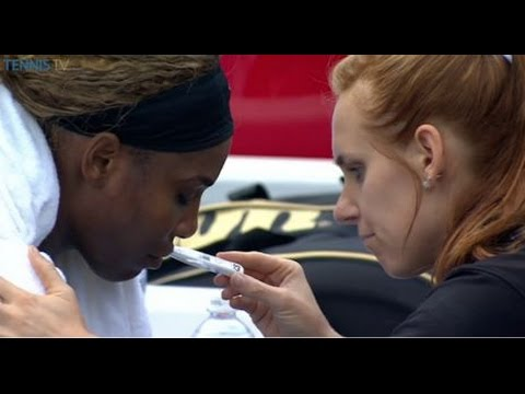 9/23/2014 Serena Williams vs Alize Cornet | Serena Williams Becomes ill and Withdraw Wuhan 2014