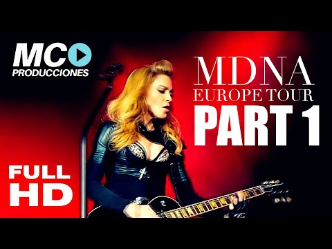 Madonna intro + Girl Gone Wild (NEW VERSION) MDNA Tour EUROPE Bluray