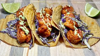 HOW TO MAKE SOME DELICIOUS SPICY SHRIMP TACOS