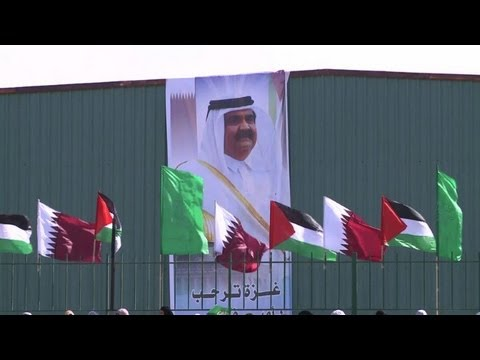 Qatari emir in landmark visit to Gaza