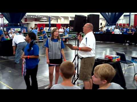 Funny Sport Stacking Jr. Olympic Games Blooper: Announcer Frustration...XD