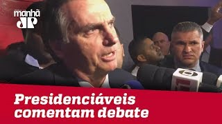 Presidenciáveis comentam impressões após primeiro debate presidencial na TV