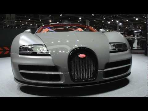Gray Bugatti Veyron Grand Sport VITESSE – Geneva Motorshow 2012 – Exclusive videos from in the stand