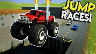 EXTREME LEGO JUMP STREET RACE! - Brick Rigs Multiplayer Challenge Gameplay - Lego City Street Race