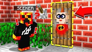 WORST HIDER EVER! | The Incredibles 2 HIDE & SEEK! - Minecraft Mods
