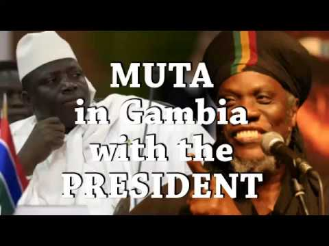 Muta In Gambia with the President