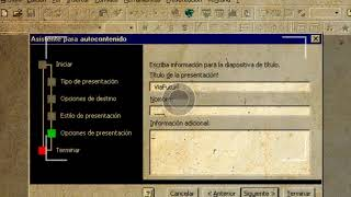 OLD SOFTWARE: This was Microsoft Powerpoint 97