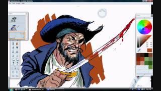 Pirate Sketch In Sketchbook Pro