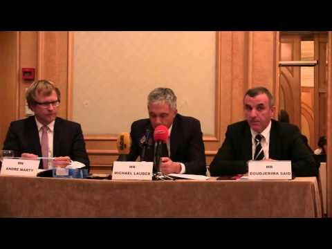 Point de presse du Procureur Général de la Confédération suisse sur le blanchiment d'argent