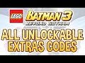 LEGO Batman 3 All Unlockable Extras Codes mp3