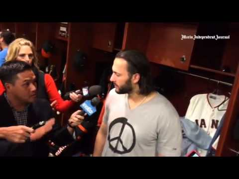 #Sfgiants Michael Morse stays positive after #WorldSeries Game 3 loss