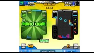 Tetris battle_5個全消(5 perfect clears)
