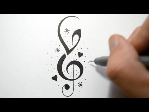 How to Incorporate Initials into Music Notes - Tattoo Design