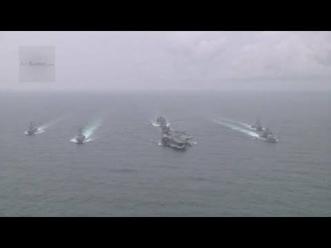 U.S. Navy Enterprise Carrier Strike Group Formation | AiirSource