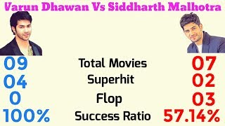 Varun Dhawan Vs Sidharth Malthotra Comparison 2017, Varun Vs Sidharth Hit And Flops.
