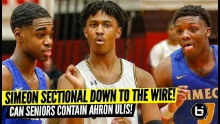Simeon Playoff Game Goes Down to the Wire AGAIN! Guard Battle: Ahron Ulis vs Simeon Seniors!