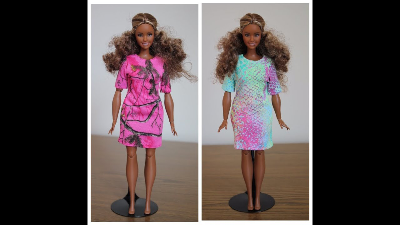 Как сшить платье для кукол барби без липучек 77