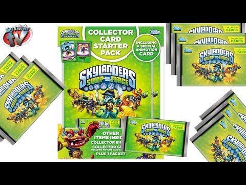 Skylanders Swap Force Trading Cards Starter Pack Review, Topps