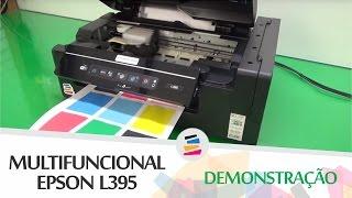 Demonstra  O  Epson L395 Com Tinta Pigmentada E Dispenser  Sulink