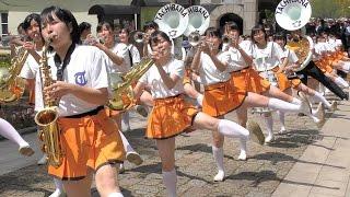 4k 京都橘高等学校 吹奏楽部 ブルーメンパレード2016 kyoto Tachibana Shs Band