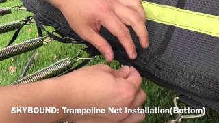 How to Install a New Replacement Trampoline Net (Attaching the Bottom Rope)