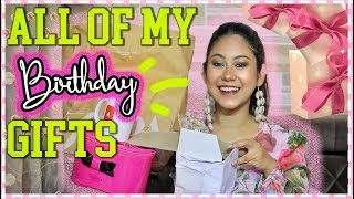 Opening ALL Of My BIRTHDAY GIFTS! Zara, Makeup, Jewellery, Bag! ThatQuirkyMiss