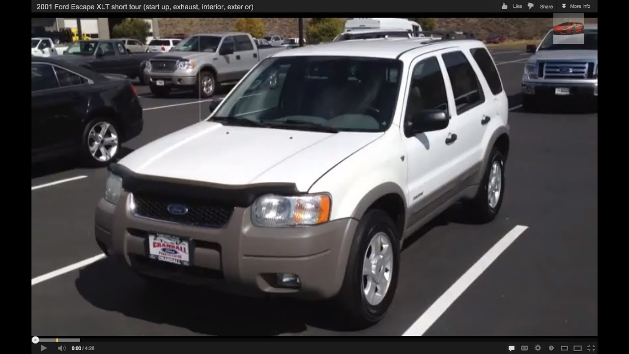 Ford Escape Xlt >> 2001 Ford Escape XLT short tour (start up, exhaust, interior, exterior) - YouTube
