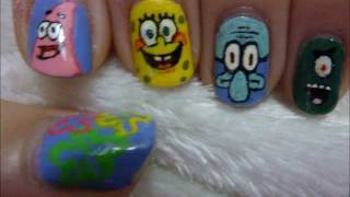 Spongebob Nail Art