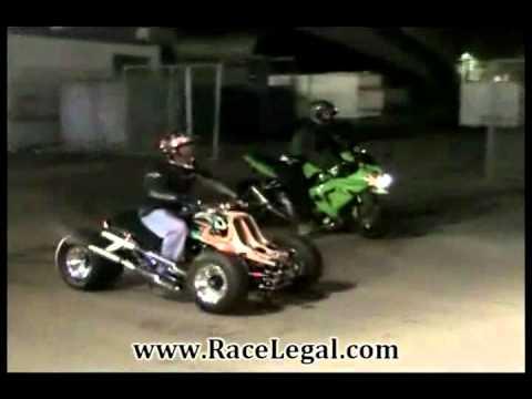 Yamaha Banshee 350 Drag Racing RaceLegal.com 3-23-2012
