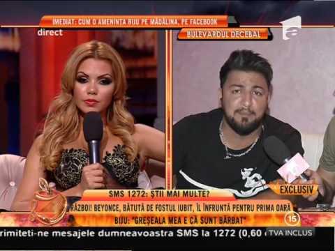 """Manelistul Costel Biju, către Beyonce de România: """"Nu te-am bătut, abia te-am atins"""""""