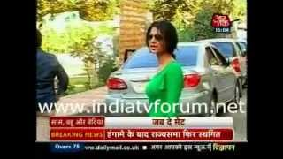 jennifer cums to meet karan on the sets of qubool hai-sbb-13 dec 2012