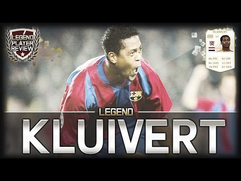 FIFA 14 UT - Legend Kluivert || Ultimate Team Legend 88 Player Review + In Game Stats