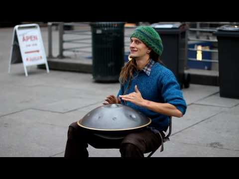 Street musician with unbelievable instrument!