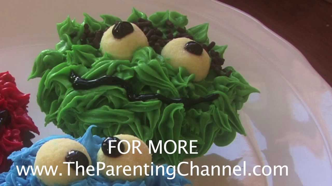 Oscar The Grouch Cupcake How To Make Youtube