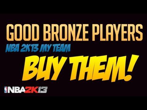 NBA 2k13 My Team. Good Bronze Players to Buy!
