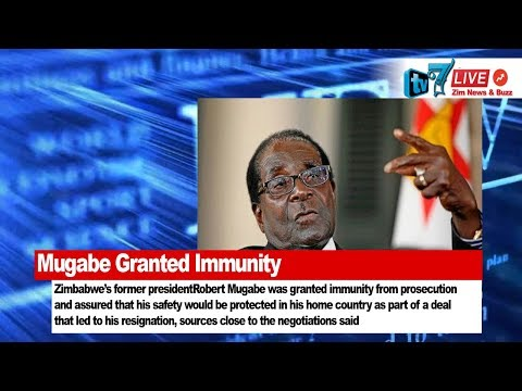 Mugabe Granted immunity as Part of the Resignation Deal